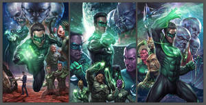 Green Lantern - Licensing Art by Artgerm