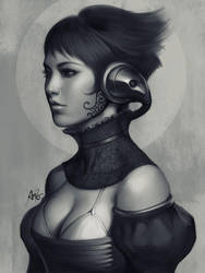 Pepper Grayscale II by Artgerm