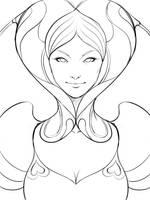 Pepper Heart Sketch by Artgerm