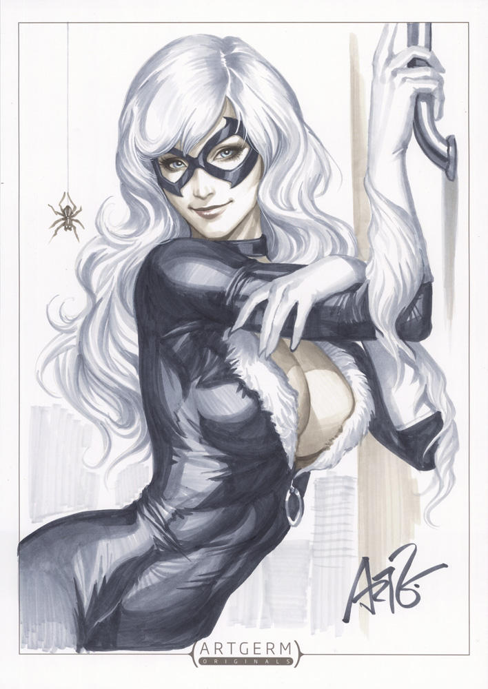 Black Cat Original 1 by Artgerm
