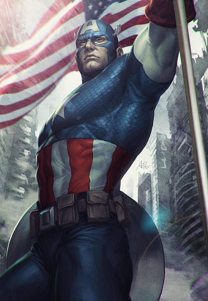 Captain America Statue Art by Artgerm