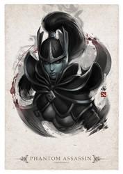 Phantom Assassin Portrait by Artgerm