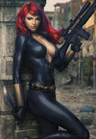Black Widow Art XM Studio Statue by Artgerm