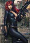 Black Widow Art XM Studio Statue by Artgerm