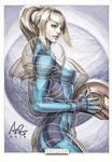 Samus Aran Original Art by Artgerm