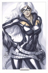 Black Cat Orignal Art by Artgerm
