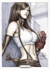 Tifa Lockhart Original Art by Artgerm