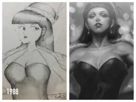 Draw it again. Again.  by Artgerm