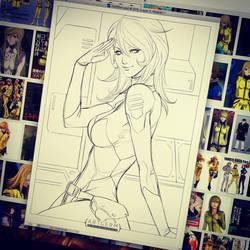 Yuki Mori sketch by Artgerm