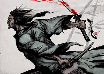 Samurai Spirit Two by Artgerm