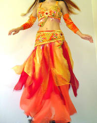 Ameynra belly dance fire color costume by AMEYNRA