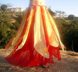 Ameynra belly dance fashion - FIRE COLOR skirt by AMEYNRA