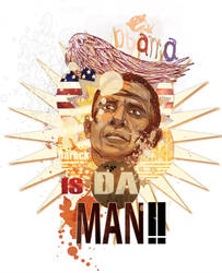 Obama illustration 2 by belbael