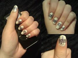 Music Nail Art by KaleidoscopeEyes97