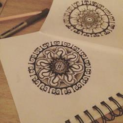 Rough Mandala. by ANNI3B3LL3