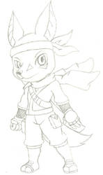Ninjo the Jackal Ninja by Zedamos