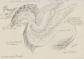 Quetzalcoatl Sketch (Outdated) by LeviaDraconia
