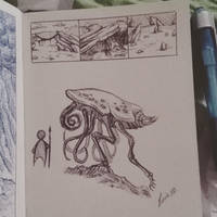 Mini Landscape and Creature Sketches by LeviaDraconia