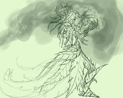 Sylvari Necromancer - WIP by atryl