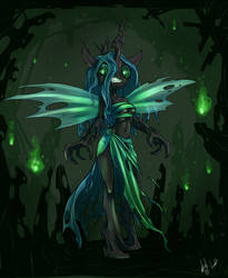 Queen Chrysalis by atryl