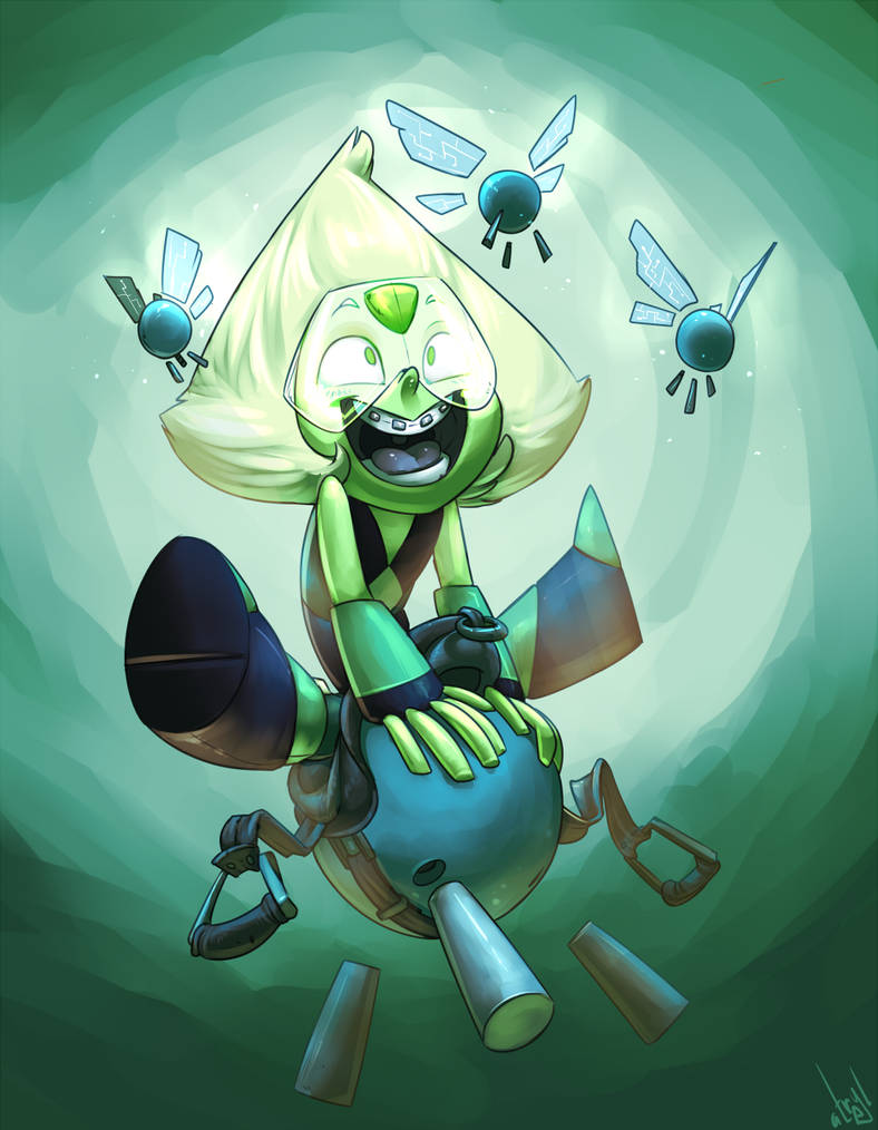 For my dum dum friend for his birthday! Yay lil' Peridot!