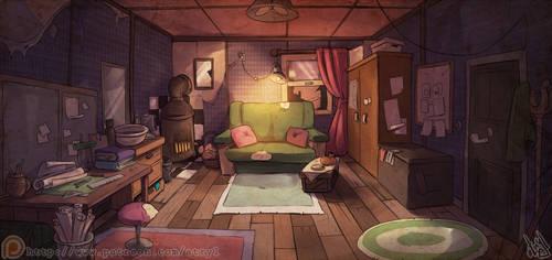 Wisteria's Room by atryl