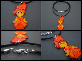 Flame Princess Necklace by Pixelosis