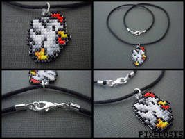 Handmade Seed Bead Cucco Necklace by Pixelosis
