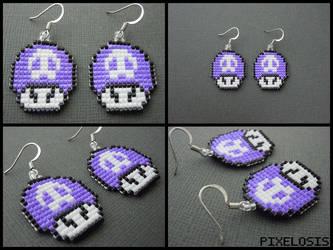 Poison Mushroom Earrings by Pixelosis