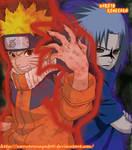 Naruto Chakra Kyubi y Sasuke Marca de la maldicion by NarutoRenegado01