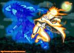 Naruto Modo Kyubi vs Madara by NarutoRenegado01