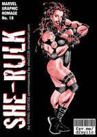 Red She-Hulk aka She-Rulk by elee0228