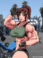 Muscle Beach Akiko by elee0228