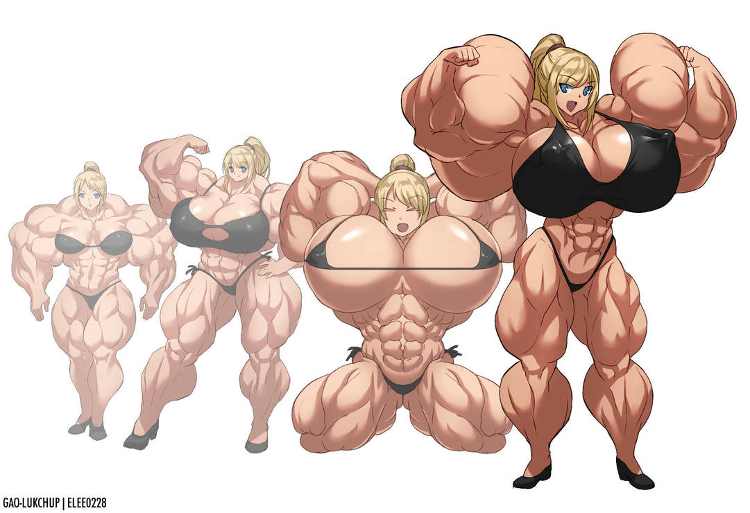 Samus Muscle Growth (Part 5: Level 17-20) By Elee0228 On