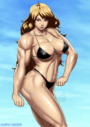 Blonde Muscle Girl by elee0228