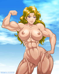 Blonde Muscle Girl Nude Boobs by elee0228