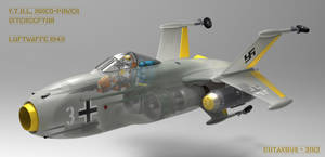 Luftwaffe 1949 point defense fighter by CUTANGUS
