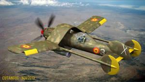Pilot inside the warplane by CUTANGUS