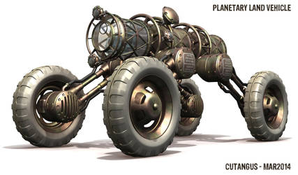 PLANETARY LAND ROVER VEHICLE by CUTANGUS