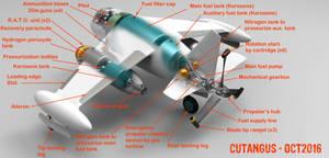Ramjet propeller driven interceptor Cu-113 (I) by CUTANGUS