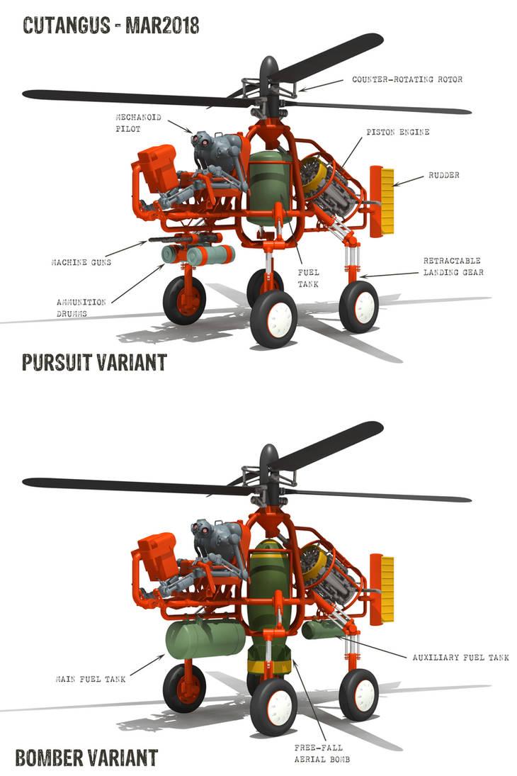 V.T.O.L. vehicle main variants by CUTANGUS