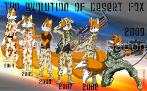 The Evolution of Fox by thedesertkitsune