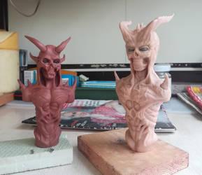 Demon bust #1 by RetardedDogProductns