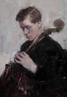 Violoncellist by vlakrisenko