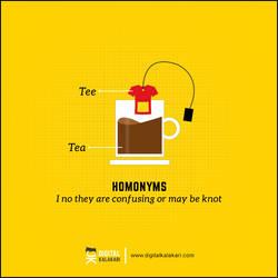 Homonyms   Poster Design by digitalkalakari