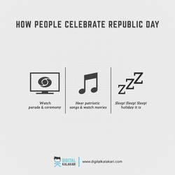 Happy Republic Day   Poster Design by digitalkalakari