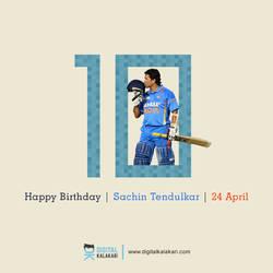 Sachin Tendulkar   Poster Design by digitalkalakari
