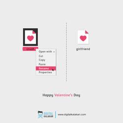 Happy Valentines Day   Poster Design by digitalkalakari