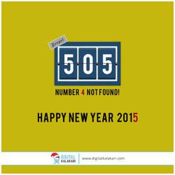 Happy New Year   Funny Error by digitalkalakari