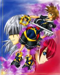 Kingdom Hearts II by Akaina